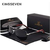 Óculos De Sol Aviador Masculino Kingseven K725 - Lente Preta