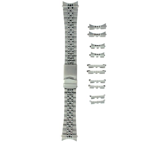 Watch Band Stainless Steel Metal Adjustable Mens Fits 18-22 millimeters End Pieces