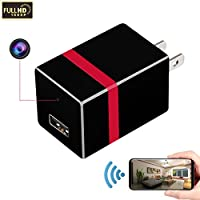RZATU Hidden Camera WiFi HD 1080P Motion Detection USB Wall Charger Camera Mini Home Security Camera Spy Smart Snap Cam