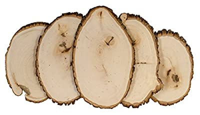 Walnut Hollow 41803 Medium Rustic Basswood Country Rounds Bulk Value Pack for Home Decor & Rustic Weddings