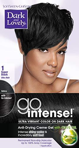 SoftSheen-Carson Dark and Lovely Go Intense Ultra Vibrant Color on Dark Hair, Super Black 1 (Packaging May Vary) (Dark And Lovely Go Intense Color Spray)
