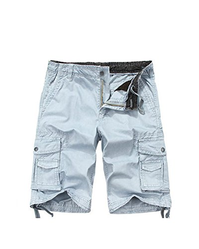 Leward Men's Cotton Loose Fit Twill Cargo Shorts Outdoor Wear Lightweight