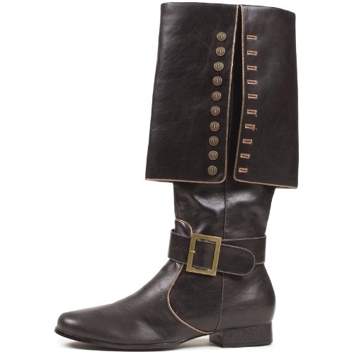 Ellie Shoes Mens 1Heel Pirate Boot with Red Sash Sizes) M BLKP I8VrNmbm