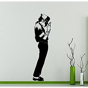 Wonderful Michael Jackson King Of Pop Wall Decal American Singer Vinyl Sticker Home  Decor Ideas Living Room Part 4