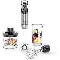 BESTEK 350W 2 Speed 4-in-1 Smart Stick Hand Mixer Blender Set with Food Chopper