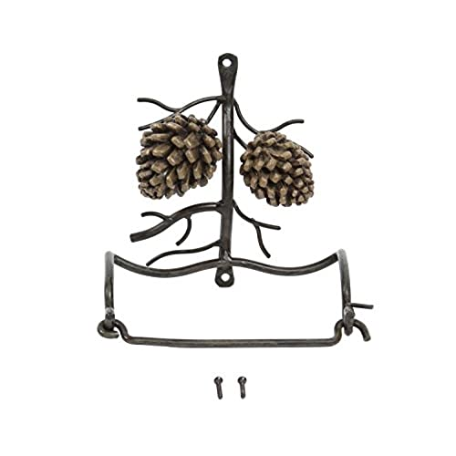 DEI Country Pinecone Toilet Paper Holder Wall Mount, 6 Inch