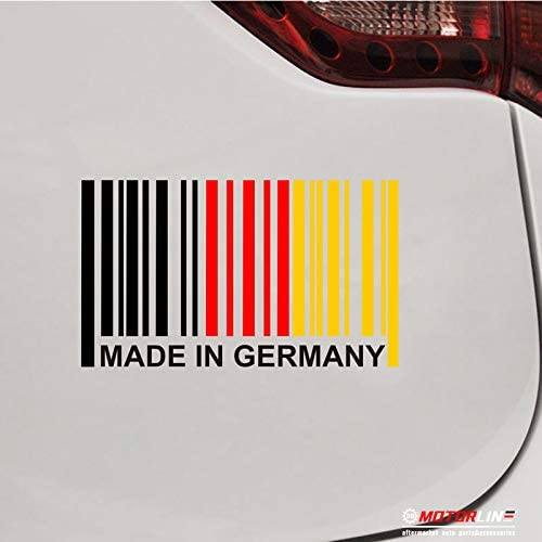 GERMANY FLAG STICKER Car Bumper Vinyl Sticker 10 cm x 6 cm