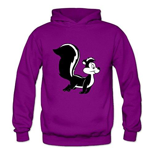 Chris-T Pepe Le Pew Looney Tunes Women's Long Sleeve Hoodie Purple US Size M