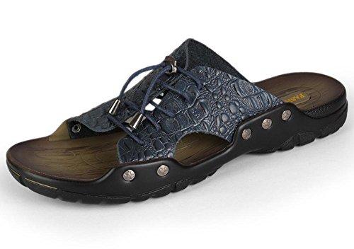 Sandalias y chanclas sandalias de cuero de los hombres de verano de encaje de modo personalizado, 3 3