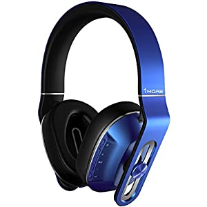 1MORE MK802 Noise Isolating Headphone with Deep Bass, Bluetooth Wireless Headphone with IOS/Android Microphone (Blue)