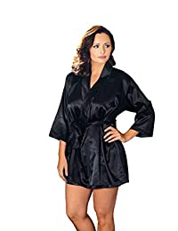 iCollection Women's Plus-Size Satin Robe