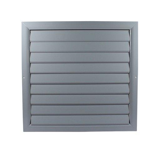 Griglia di ventilazione ELOG, con listelli a chiusura automatica, in alluminio, di colore grigio, Grigio Dalap