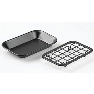 mDesign Bar Soap Dish for Bathroom Vanities, Kitchen Sink - Matte Black