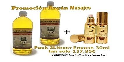 ACEITE DE ARGAN 2 x 1 litro PURO 100% Bio NATURAL El Secreto De Belleza