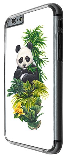 957 - Cool cute fun panda nature wildlife green plants flowers kawaii Design For iphone 5 5S Fashion Trend CASE Back COVER Plastic&Thin Metal -Clear