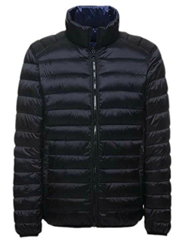 Coat Down Sided Black Double EKU Jackets Lightweight Mens S qxOvWXf