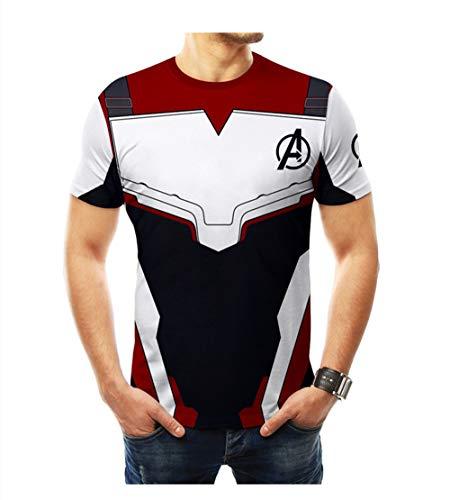 Allopo Superhero Movie T-Shirt, Av.enger's Endgame Breathable Cosplay Costume 3D Print Movie Robot Style Tights Men (L, 3)]()
