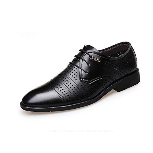 Cordones Verano Cuero Zapatos Hombres Para Goma Formales Moda Negocios De Suela Negro 2018 Sandalias Clásicos qHwZxEFH8