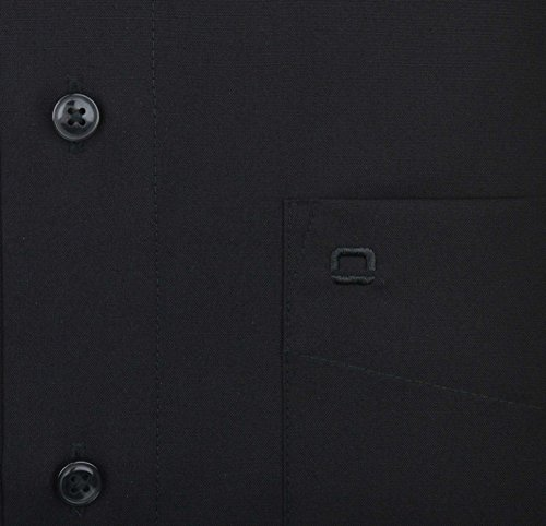 Olymp Hemd Luxor kurzarm - schwarz, Kragenweite:40