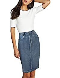 Lexi Womens Super Comfy Stretch Casual Denim Skirt