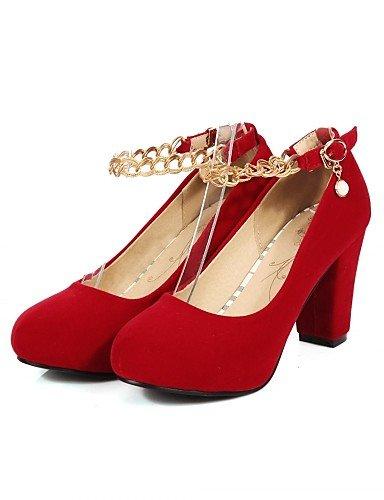 GGX/Damen Schuhe Kunstleder Chunky Heel Heels Heels Büro & Karriere/Kleid/Casual Schwarz/Rot black-us8 / eu39 / uk6 / cn39