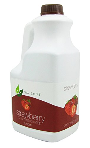 Tea Zone Strawberry Premium Concentrated Syrup 64 Fl. Oz.