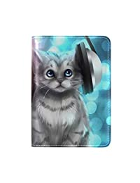 Andrea Back Music Love Cat Passport Holder Cover Leather Travel case 5.51 inch