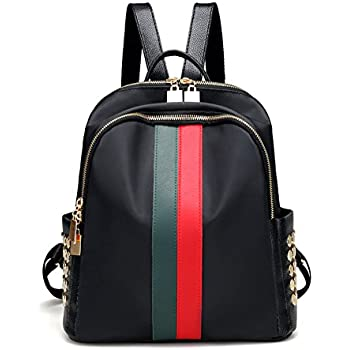 d3ea8e37dc48 Mynos Fashion Luxury Designer Women Small Backpack Bag Ladies Backpack (Red  and green)