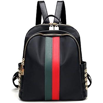 ddab79f124b4 Mynos Fashion Luxury Designer Women Small Backpack Bag Ladies Backpack (Red  and green)