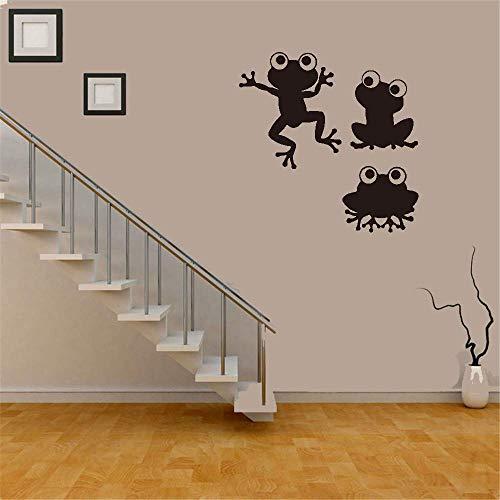 Tiude Wall Stickers Art DIY Removable Mural Room Decor Mural Vinyl Nursery Rhyme Wall Decal Frogs for Living Room Bedroom Nursery Kids Room