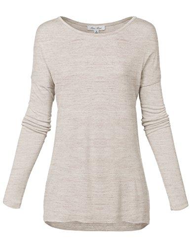 Soft Comfortable Long Sleeve Drop Shoulder Tunic Tops