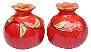 CG Pair of Pomegranates Salt and Pepper Shakers, Red