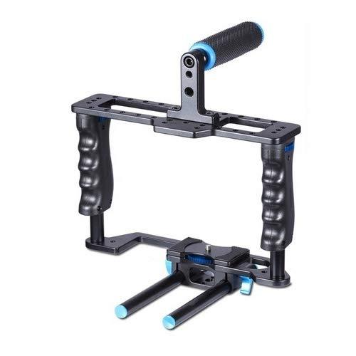 カメラ用 YLG0107E-A保護DSLRカメラケージスタビライザートップハンドルセット カメラアクセサリー   B07Q2BJ9TH