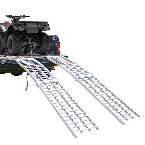 Aluminum Heavy Duty Folding ATV/UTV Ramp - 9' Long, 3,000 lb. Weight Capacity Per Pair (Sold as Pair)
