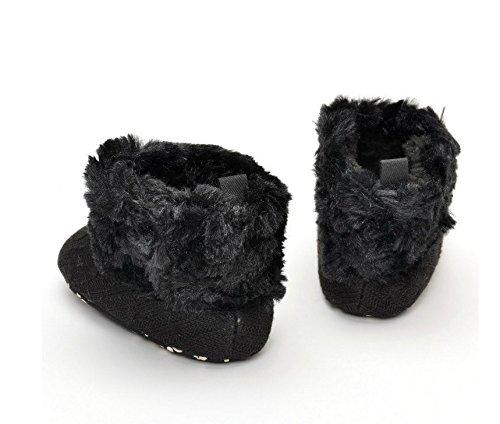 honeysuck bebé niñas moda pelo invierno cálido nieve Knit suave Cuna Zapatos Botas