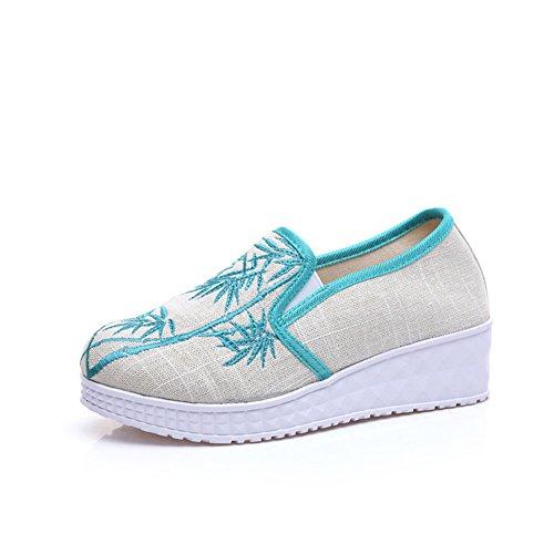 中国の刺繍靴中国のスタイル刺繍のキャンバスシューズダンスシューズ