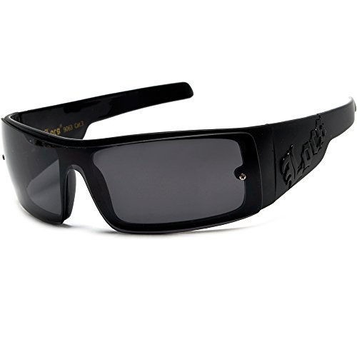 87afee284db9a Official LOCS Hardcore Shades Square Shield Sports Frame with Dark Lens Gangsta  Sunglasses (Black Dark  2) - Buy Online in UAE.