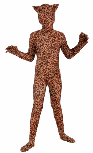 Forum Novelties I'm Invisible Costume Stretch Body Suit, Leopard Print, Child Large
