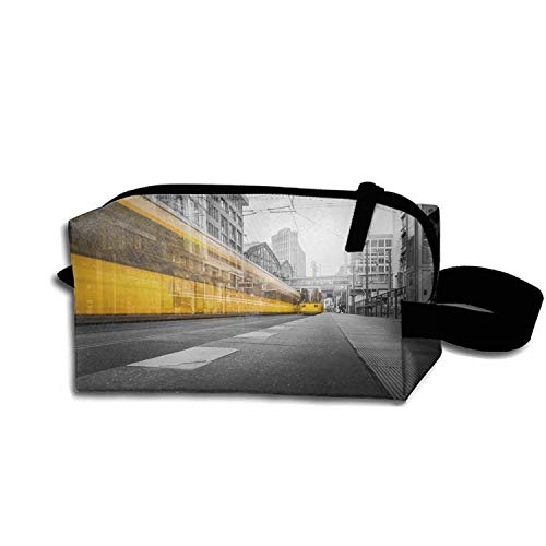 (Architecture Asphalt Berlin Pen Holder Stationery Pencil Pouch Waterproof Multi-purpose Storage Tote Tools Canvas Bag Cosmetic Makeup Bags With Zipper And Hanging)