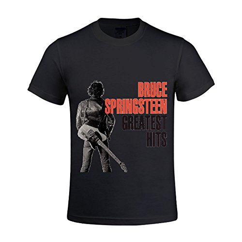 Bruce Springsteen Greatest Hits Men T Shirts Round Neck Cool Black