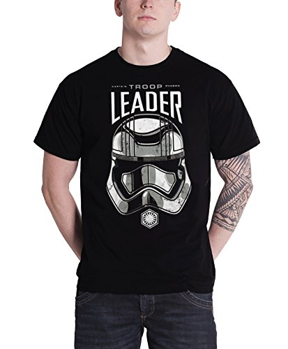 ptain Phasma Troop Leader new Official Mens Black (Leader New T-shirt)