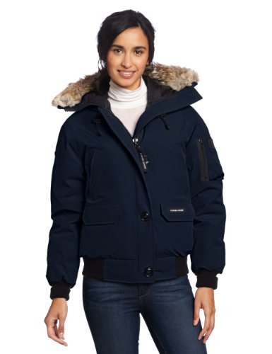 Canada Goose Women's Chilliwack Bomber,  Navy,  X-Large (Goose Canada Ruff)