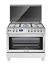 White Whale Stainless Steel 5 Burners Gas Cooker, Silver - WC-9099FSS