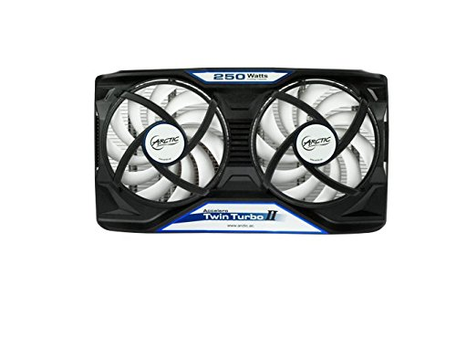 ARCTIC Accelero Twin Turbo II VGA Cooler - nVidia & AMD, Dual Quiet 92mm PWM Fans, (Video Card Ram)