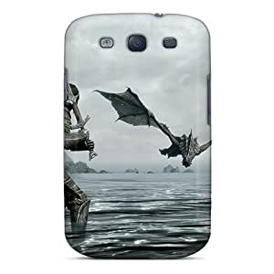 Durable Cell-phone Hard Cover For Samsung Galaxy S3 With Custom Realistic Skyrim Skin CharlesPoirier