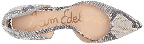 Sam Edelman Womens Telsa DOrsay Pump Black/White Snake Print Leather 71qOrwQ9