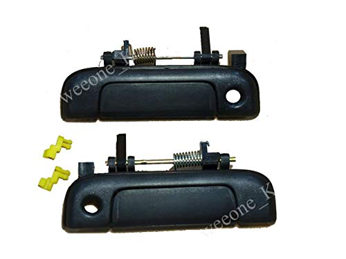 K1AutoParts 1 Pair of Outside Outer Exterior Door Handle Black Color for Toyota Hiace LH112 1989-1995 ()