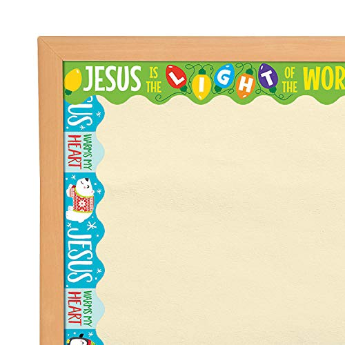 - Fun Express - Reversable Christmas & Winter Border for Christmas - Educational - Classroom Decorations - Bulletin Board Decor - Christmas - 12 Pieces