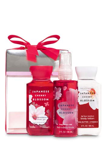 Bath & Body Works Japanese Cherry Blossom Mini Box Gift Set - Shower Gel, Body Lotion & Fragrance Mist