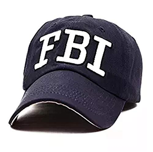 GEANBAYE 100% Cotton FBI Hats and Police Agent Hats for Men and Women -